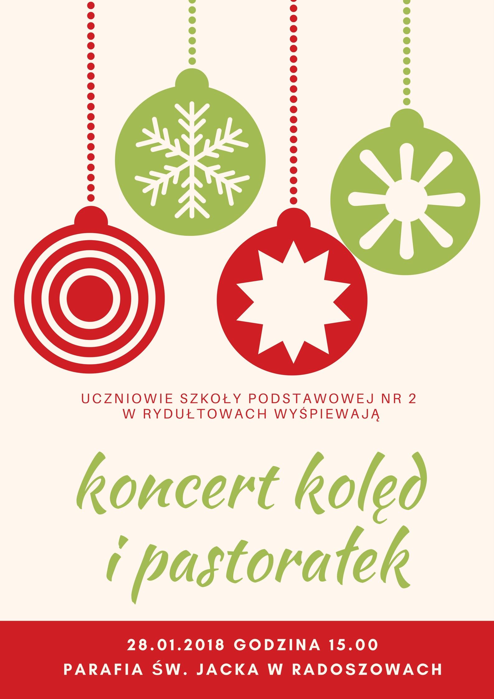Zaproszenie na koncert kolęd